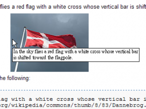 A Flag showing the example of alt text