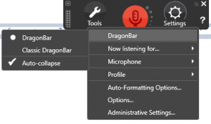 Dragon toolbar