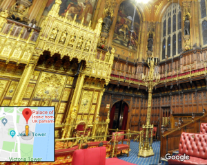 The Palace Of Westminster viewed through Google Maps
