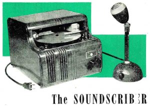 An old dictation machine called the Soundscriber