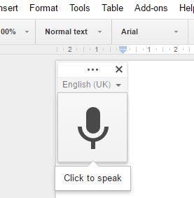 Microphone symbol in Google Docs