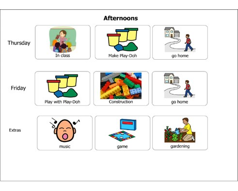 Visual Timetable made in boardmaker
