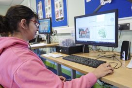 A learner using a computer