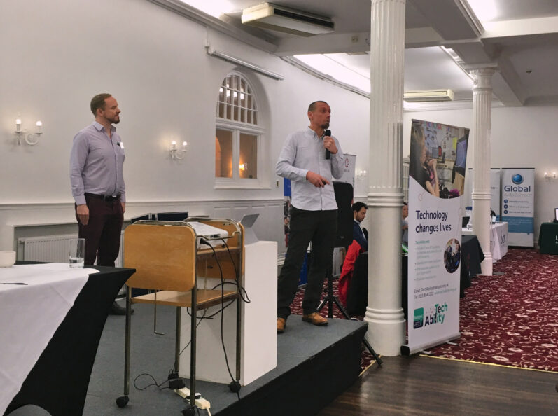 Fil and Neil presenting at TechAbility Conference 2019